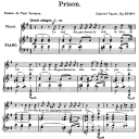 Prison Op.83 No.1, High Voice in E minor, G. Fauré. For Soprano or Tenor. Ed. Leduc (A4) | eBooks | Sheet Music