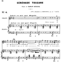 Sérénade toscane Op. 3 No.2, High Voice in C minor, G. Fauré. For Soprano or Tenor. Ed. Leduc (A4) | eBooks | Sheet Music
