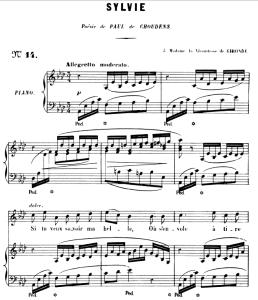 Sylvie Op.6 No.3, High Voice in A-Flat Major, G. Fauré. For Soprano or Tenor. Ed. Leduc (A4) | eBooks | Sheet Music