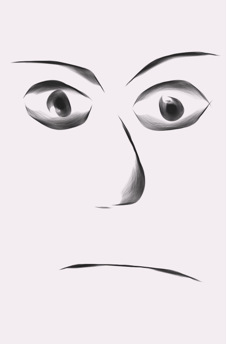 First Additional product image for - Funny face sketch