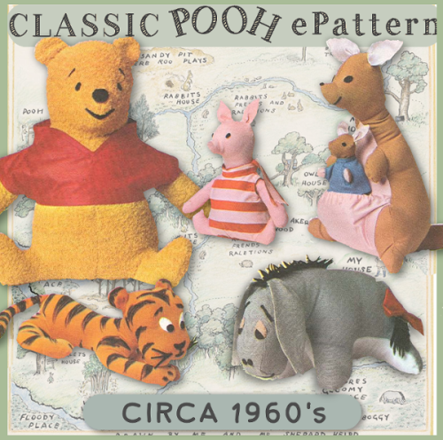 First Additional product image for - Winnie the Pooh & Friends e-Pattern PDF