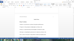 English Drama | Documents and Forms | Research Papers