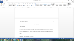 One Minute Play   Documents and Forms   Research Papers
