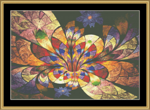Fractal Unlimited Ii - 04 | Crafting | Cross-Stitch | Wall Hangings