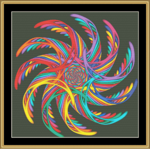 Fractal Unlimited Ii - 14 | Crafting | Cross-Stitch | Wall Hangings