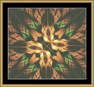 Fractal Unlimited Ii - 21 | Crafting | Cross-Stitch | Wall Hangings