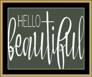 Hello Beautiful | Crafting | Cross-Stitch | Other