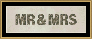 Mr & Mrs | Crafting | Cross-Stitch | Wall Hangings