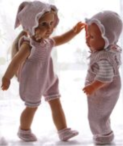 DollKnittingPatterns Modell 0176D RUNA - Anzug mit kurzen Beinen, Hose, kurzärmeliger Pulli, Mütze, Kopftuch und Schuhe-(Deutsch) | Crafting | Knitting | Other