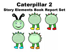 50% off caterpillar book report set