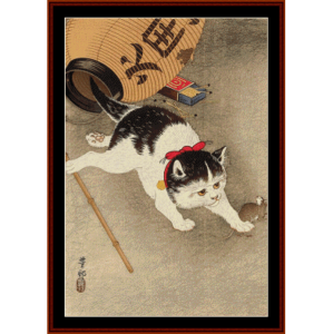 Cat and Mouse (Asian Art) cross stitch pattern by Cross Stitch Collectibles | Crafting | Cross-Stitch | Wall Hangings