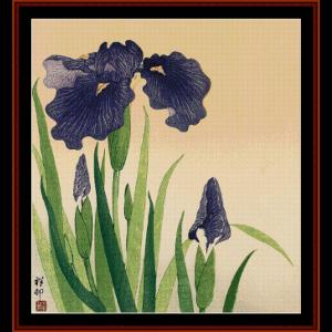Flowering Iris (Asian Art) cross stitch pattern by Cross Stitch Collectibles | Crafting | Cross-Stitch | Wall Hangings