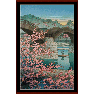 Kintaibasha in Spring (Asian Art) cross stitch pattern by Cross Stitch Collectibles | Crafting | Cross-Stitch | Wall Hangings