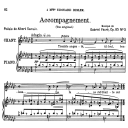 Accompagnement Op.83 No.3, Medium Voice in G-Flat Major, G. Fauré, For Mezzo or Baritone. Ed. Leduc (A4) | eBooks | Sheet Music