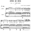 Après un rêve Op.7 No.1, Medium Voice in C Minor, G. Fauré, For Mezzo or Baritone. Ed. Leduc (A4) | eBooks | Sheet Music