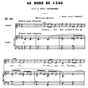 Au bord de l'eau Op.8 No.1, Medium Voice in C Minor, G. Fauré,  For Mezzo or Baritone. Ed. Leduc (A4) | eBooks | Sheet Music