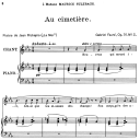 Au cimetière Op.51 No.2, Medium Voice in C minor, G. Fauré, For Mezzo or Baritone. Ed. Leduc (A4) | eBooks | Sheet Music