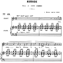 Aubade Op. 6 No.1, Medium Voice in F Major, G. Fauré, For Mezzo or Baritone. Ed. Leduc (A4) | eBooks | Sheet Music