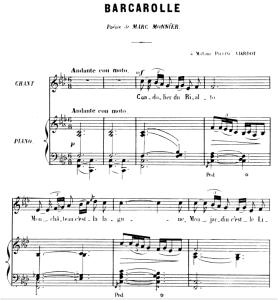 Barcarolle Op.7 No.3, Medium Voice in F minor, G. Fauré, For Mezzo or Baritone. Ed. Leduc (A4)   eBooks   Sheet Music