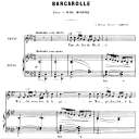 Barcarolle Op.7 No.3, Medium Voice in F minor, G. Fauré, For Mezzo or Baritone. Ed. Leduc (A4) | eBooks | Sheet Music