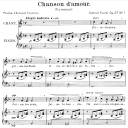 Chanson d'amour  Op.27 No.1, Medium Voice in F Major, G. Fauré. For Mezzo or Baritone. Ed. Leduc (A4) | eBooks | Sheet Music