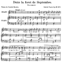 Dans la forêt de septembre Op.85 No.1, Medium Voice in G-Flat Major G. Fauré. For Mezzo or Baritone. Ed. Leduc (A4) | eBooks | Sheet Music