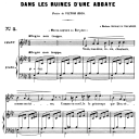 Dans les ruines d'une abbaye Op. 2 No.1, Medium Voice in A-Flat Major, G. Fauré. For Mezzo or Baritone. Ed. Leduc (A4) | eBooks | Sheet Music