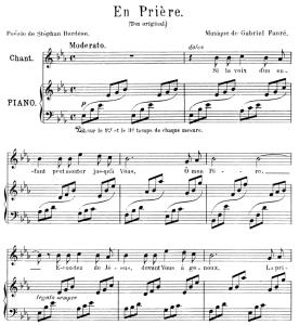 En prière, Medium Voice in E-Flat Major, G. Fauré. For Mezzo or Baritone. Ed. Leduc (A4) | eBooks | Sheet Music