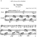 En sourdine Op.58 No.2, Medium Voice in E-Flat Major G. Fauré. For Mezzo or Baritone. Ed. Leduc (A4)   eBooks   Sheet Music