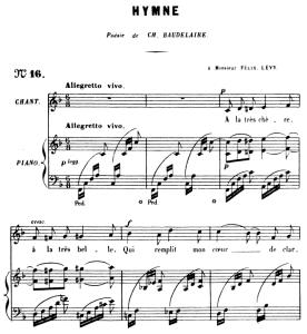 hymne op.7 no.2, medium voice f major, g. fauré. for mezzo or baritone. ed. leduc (a4)