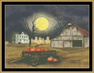 Harvest Moon   Crafting   Cross-Stitch   Wall Hangings