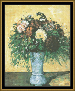 Still Life In Blue Vase - Cezanne | Crafting | Cross-Stitch | Wall Hangings
