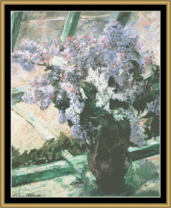 lilacs in window - cassatt