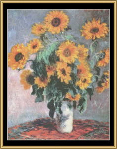 Sunflowers - Monet | Crafting | Cross-Stitch | Wall Hangings