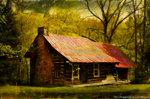 Cabin In The Woods (Digital Artwork) | Photos and Images | Digital Art
