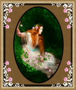 Vintage Floral Framed Beauty | Photos and Images | Digital Art