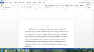 Summarizing Poetry   Documents and Forms   Research Papers