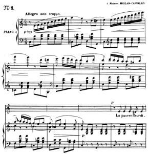 Le papillon et la fleur Op.1 No.1, Medium Voice in C Major, G. Fauré. For Mezzo or Baritone. Ed. Leduc (A4) | eBooks | Sheet Music