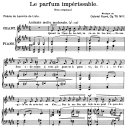 Le parfum impérissable Op.76 No.1, Medium Voice in E Major, G. Fauré. For Mezzo or Baritone. Ed. Leduc (A4) | eBooks | Sheet Music