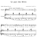 Le pays des rêves Op.39 No.3, Medium Voice in G-Flat Major, G. Fauré. For Mezzo or Baritone. Ed. Leduc (A4) | eBooks | Sheet Music