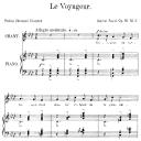 Le voyageur Op.18 No.2, Medium Voice in F minor G. Fauré. For Mezzo or Baritone. Ed. Leduc (A4) | eBooks | Sheet Music