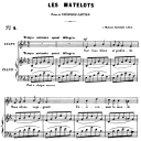 Les matelots Op.2 No.2, Medium Voice in E-flat Major, G. Fauré. For Mezzo or Baritone. Ed. Leduc (A4) | eBooks | Sheet Music