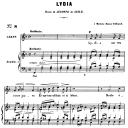 Lydia Op.4 No.2, Medium Voice in F Major, G. Fauré. For Mezzo or Baritone. Ed. Leduc (A4) | eBooks | Sheet Music