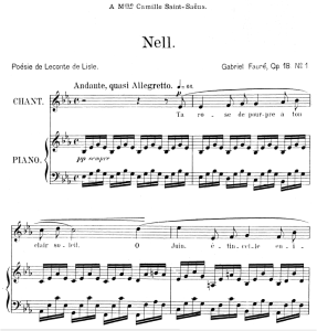 Nell Op.18 No.1, Medium Voice in E-Flat Major, G. Fauré. For Mezzo or Baritone. Ed. Leduc (A4) | eBooks | Sheet Music