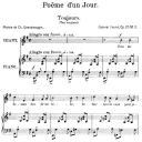 Poème d'un jour (Toujours) Op.21 No.2, Medium Voice in E minor, G. Fauré. For Mezzo or Baritone. Ed. Leduc (A4)   eBooks   Sheet Music