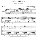 Rêve d'amour Op.5 No.2, Medium Voice in E-Flat Major, G. Fauré. For Mezzo or Baritone. Ed. Leduc (A4) | eBooks | Sheet Music