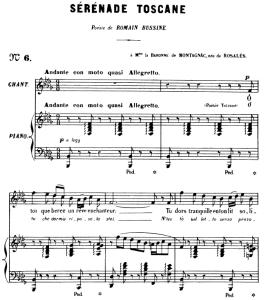 Sérénade Toscane Op.3 No.2, Medium Voice in B-Flat minor, G. Fauré. For Mezzo or Baritone. Ed. Leduc (A4) | eBooks | Sheet Music