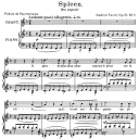 Spleen Op.51 No.3, Medium Voice in D minor, G. Fauré. For Mezzo or Baritone. Ed. Leduc (A4) | eBooks | Sheet Music