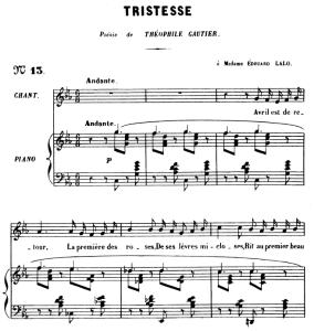 Tristesse Op.6 No.2, Medium Voice in C minor, G. Fauré. For Mezzo or Baritone. Ed. Leduc (A4) | eBooks | Sheet Music