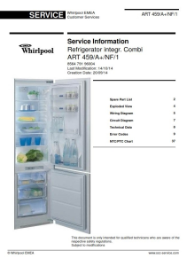 Whirlpool ART 459/A+/NF/1 refrigerator Service Manual | eBooks | Technical